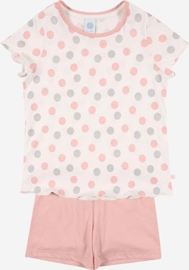 SANETTA Pyjama in opal / rosa / weißmeliert, Produktansicht