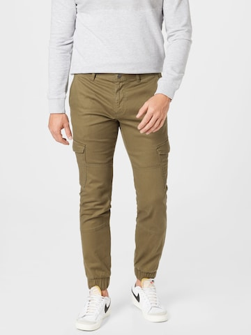 TOM TAILOR DENIM Карго панталон в зелено
