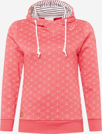 Ragwear Plus Sweatshirt 'MARINA' in melone / weiß, Produktansicht