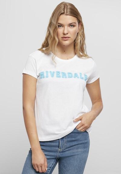Merchcode T-shirt 'Riverdale' en bleu / blanc: Vue de face