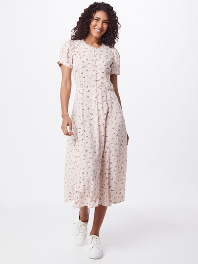 sessun Košeľové šaty 'ADELAIDA' - hnedá / gaštanová / ružová / svetloružová, Model/-ka