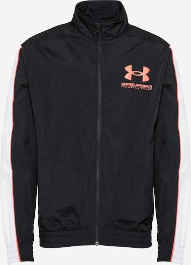 UNDER ARMOUR Sportjas in de kleur Zalm roze / Zwart / Wit, Productweergave