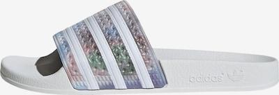 ADIDAS ORIGINALS Zapatos para playa y agua 'ADILETTE' en gris plateado / blanco, Vista del producto