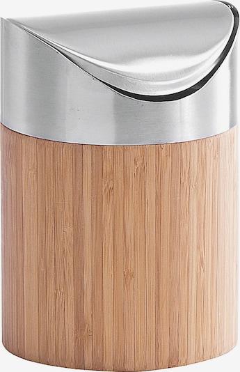 Zeller Present Kosmetikeimer in beige / silber, Produktansicht