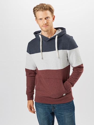 Felpa TOM TAILOR di colore navy / grigio chiaro / rosso pastello: Vista frontale