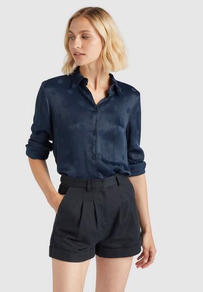 khujo Bluse in blau, Modelansicht