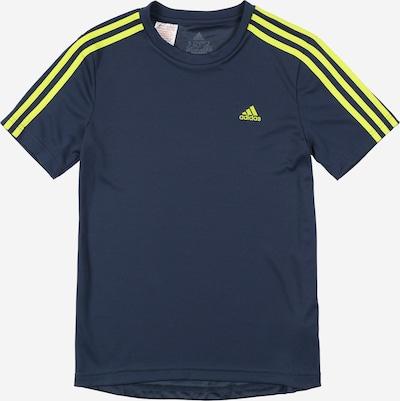 ADIDAS PERFORMANCE Sportshirt in dunkelblau / gelb, Produktansicht