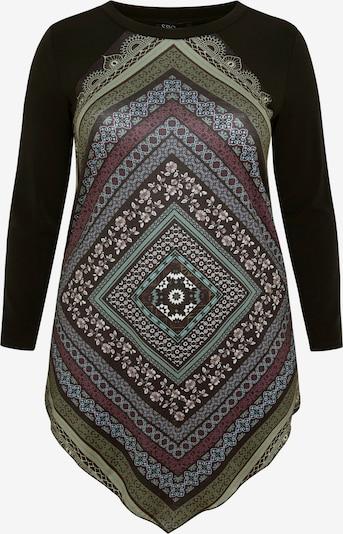 SPGWOMAN Longshirt SHIRT MIT TUCHDRUCK in schwarz, Produktansicht
