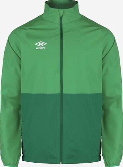 UMBRO Shower Trainingsjacke Herren in grün: Frontalansicht