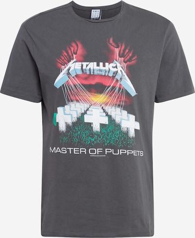 AMPLIFIED T-Shirt en gris foncé / vert / rouge / blanc, Vue avec produit
