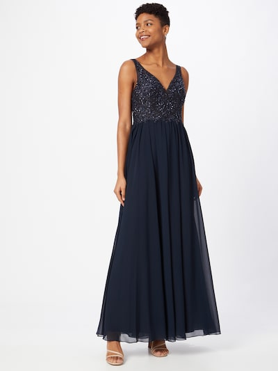 Laona Abendkleid in dunkelblau, Modelansicht