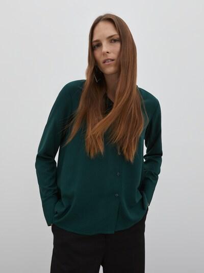 EDITED Bluse 'Ellinor' i grøn, Modelvisning