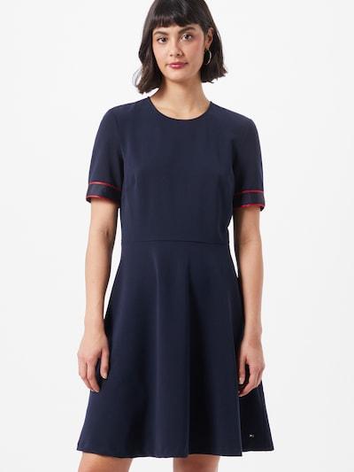 TOMMY HILFIGER Kleid 'Fit&Flare' in dunkelblau / rot, Modelansicht