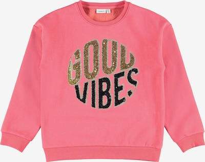 NAME IT Sweatshirt in gold yellow / pink / black, Item view