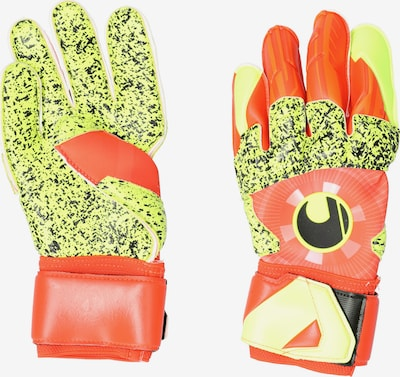 UHLSPORT Handschuh in neongelb / orange, Produktansicht