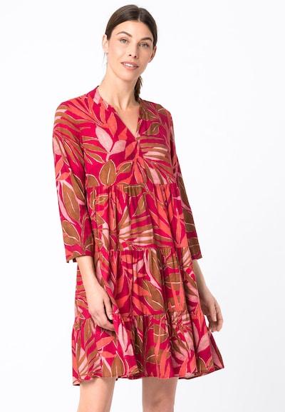 HALLHUBER Kleid in mischfarben / rot, Modelansicht