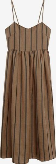 MANGO Kleid 'Morocco' in dunkelbraun / schwarz, Produktansicht