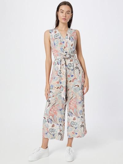 COMMA Jumpsuit in de kleur Beige / Blauw / Sinaasappel / Zalm roze / Zwart, Modelweergave