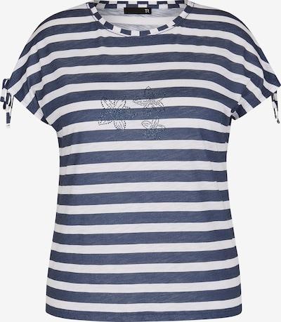 Thomas Rabe Shirt mit geringeltem Muster und Bindebändern in blue denim, Produktansicht