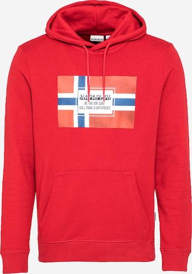 NAPAPIJRI Sweatshirt 'BERA' in blau / rot / weiß, Produktansicht