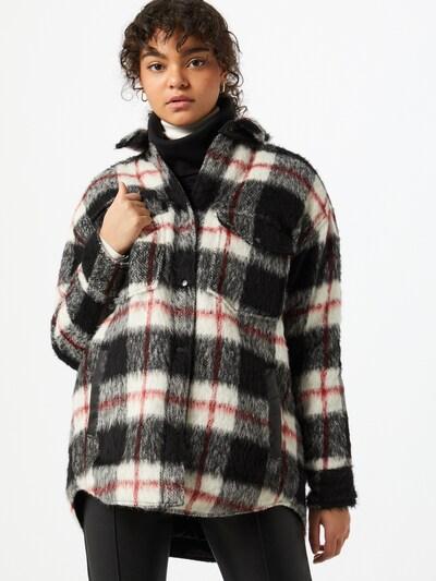 BE EDGY Prijelazna jakna 'Hally' u crvena / crna / bijela, Prikaz modela
