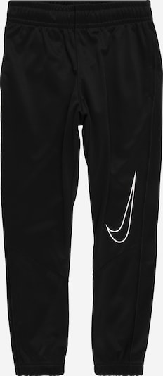 NIKE Sports trousers 'Therma' in black / white, Item view