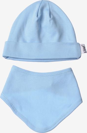 LILIPUT Baby-Mütze und Halstuch im 2er-Set in schlichtem Design in hellblau, Produktansicht