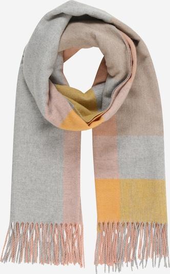 PIECES Schal 'JIRA' in honig / grau / rosa, Produktansicht