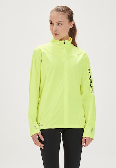 ENDURANCE Athletic Jacket 'ZIVA W' in Neon yellow: Frontal view