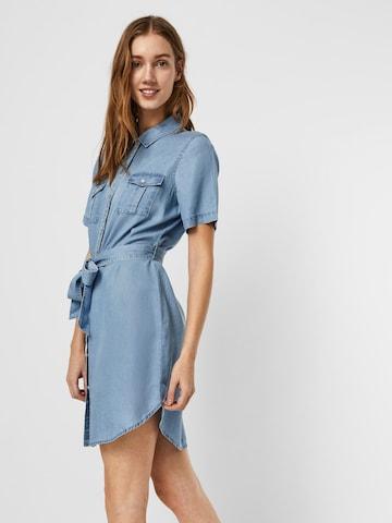 VERO MODA Košeľové šaty 'VMSILJA' - Modrá