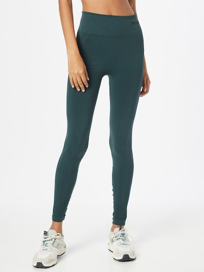 Hummel Workout Pants 'TIF' in Dark green / Black: Frontal view