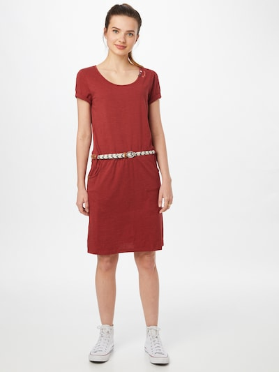 Ragwear Kleid 'MONTANA' in karminrot, Modelansicht