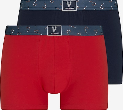TOM TAILOR Boxershorts in schoko / rot, Produktansicht