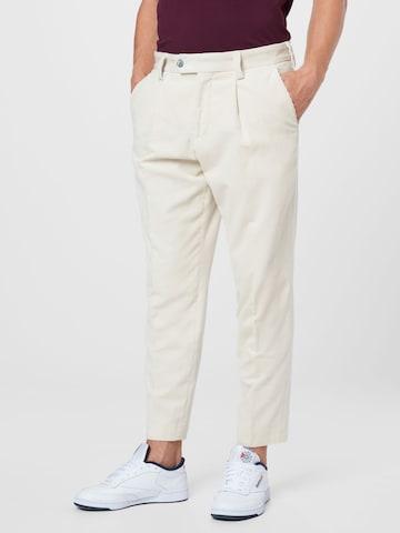 Pantaloni 'H-Perin-Pleat-214' di BOSS in beige