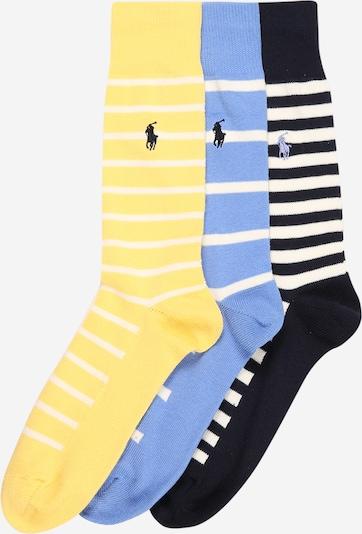 POLO RALPH LAUREN Ponožky - modrá / žlutá / černá / bílá, Produkt