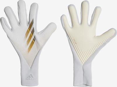 ADIDAS PERFORMANCE Torwarthandschuhe 'X 20 Pro' in gold / silber / weiß, Produktansicht