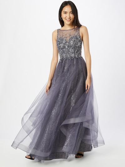 Unique Evening Dress in Silver, View model
