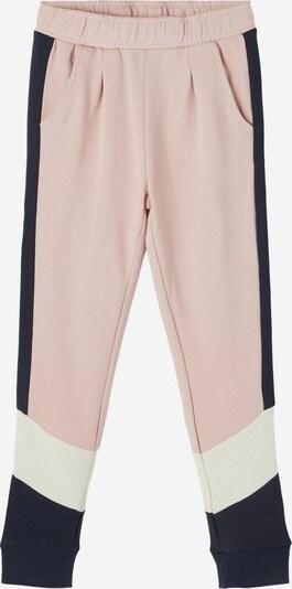 NAME IT Pantalon en bleu foncé / rose / blanc, Vue avec produit