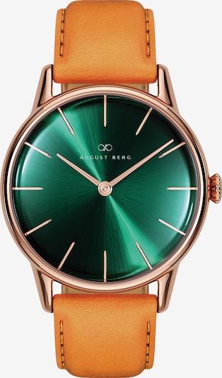 August Berg Analoog horloge 'Serenity Leather 32mm' in de kleur Groen, Productweergave