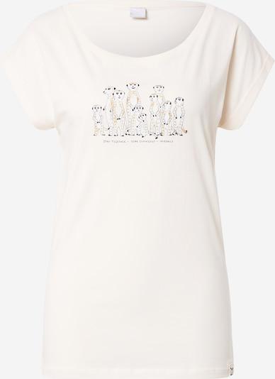 Iriedaily T-shirt 'Meerkatz' en moutarde / jaune pastel / anthracite, Vue avec produit