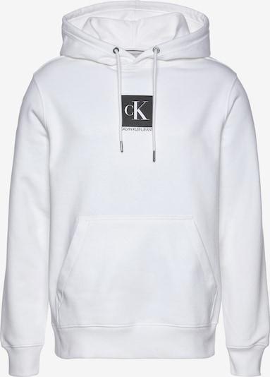 Bluză de molton Calvin Klein pe gri închis / alb, Vizualizare produs
