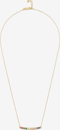 MOSUO JEWELLERY Kette 'Regenbogen' in blau / gold / grün / pink, Produktansicht