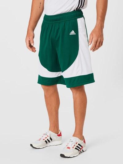 ADIDAS PERFORMANCE Športové nohavice - tmavozelená / biela, Model/-ka