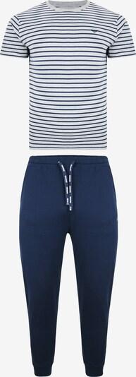 Threadbare Pyjama in dunkelblau / grau, Produktansicht