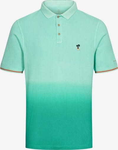 COLOURS & SONS Poloshirt Dip-Dye 'GLEN' in türkis / grün, Produktansicht