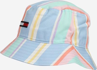Tommy Jeans Шапка с периферия в пастелно синьо / жълто / нефритено зелено / тъмнооранжево / светлорозово, Преглед на продукта