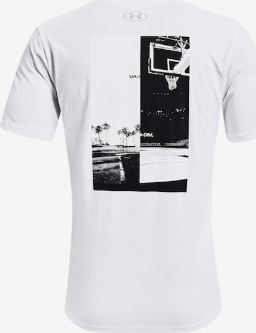 UNDER ARMOUR Kurzarm-Shirt ' Basket ' in Weiß