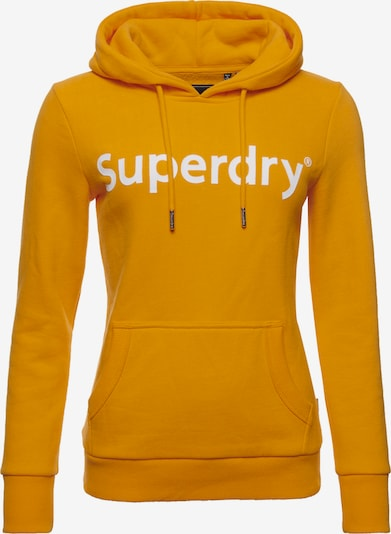 Superdry Sweatshirt 'Registered Flock' in gelb / weiß, Produktansicht