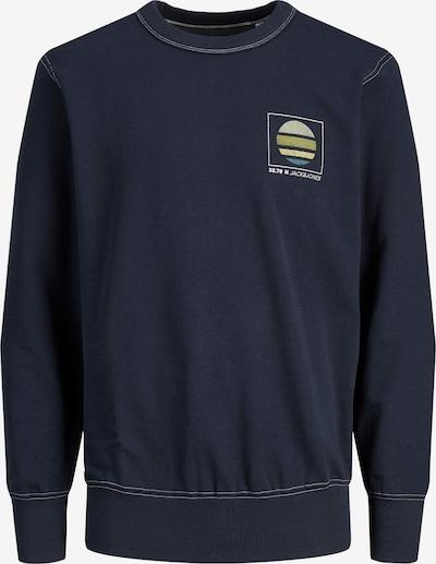 Bluză de molton 'CLAYTON' JACK & JONES pe bleumarin / gri / verde / alb, Vizualizare produs