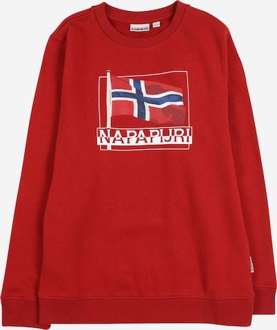 NAPAPIJRI Sweater majica 'BEJI' u mornarsko plava / crvena / bijela, Pregled proizvoda